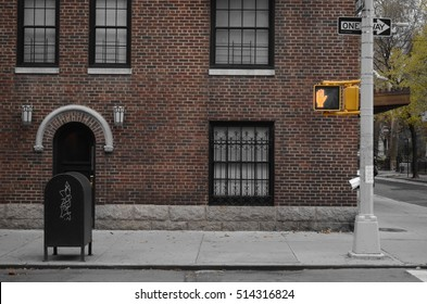 Silent Street Corner - October 2014 - Greenwich Village, New York City, USA