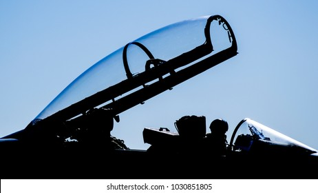 silhouette of airplane dome of hunting and attack