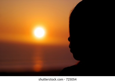 Silhouette of an Asian Girl