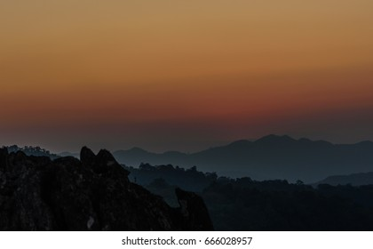 Silhouette background landscape