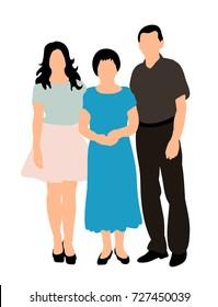 silhouette big family