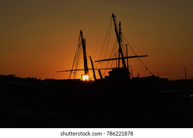Silhouette of a boat