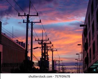 silhouette  building sky