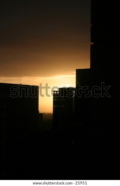silhouette of a builidng
