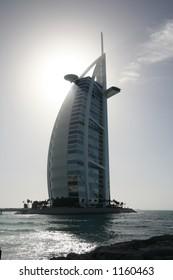 Silhouette of Burj al Arab, Dubai