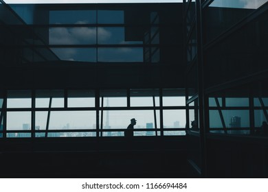 Silhouette of Business People  by Window