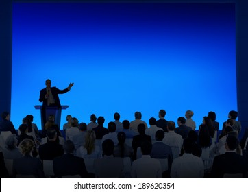 Silhouette of Business Presentation