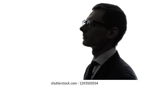 Silhouette of businessman.