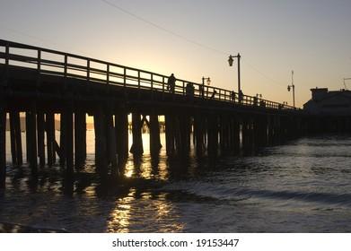 Silhouette of a California Pier