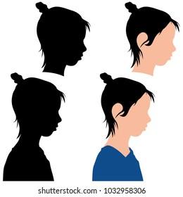 silhouette of a child in profile