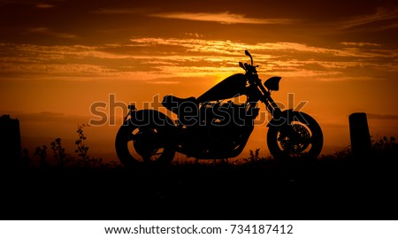 A silhouette of a