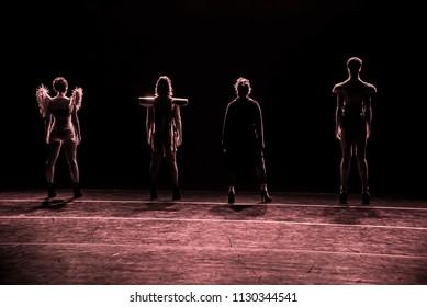 Silhouette dancers, Rio de Janeiro, Brazil