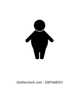 Silhouette of a fat man icon. Elements of obesity problems icon. Premium quality graphic design icon. Simple icon for websites, web design, mobile app, info graphics on white background