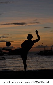 Silhouette of Footballer