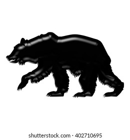 silhouette of a grizzly bear