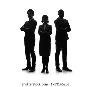 Silhouette of group of businessperson. Partner of business.