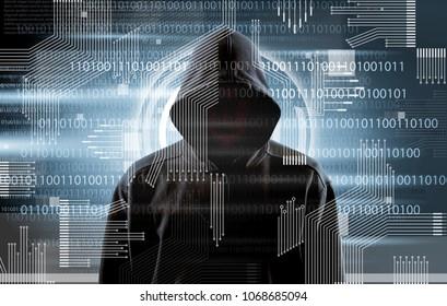 Silhouette of a hacker