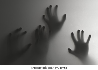 Silhouette of a hand, blur