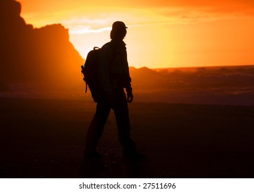 Silhouette of the hiker