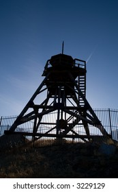 Silhouette of historic fire tower in Helena, Montana, a.k.a. Guardian of the Gulch