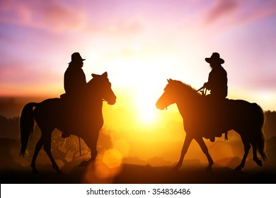 silhouette horse