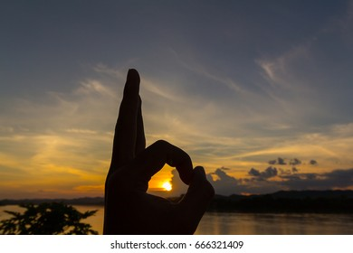 silhouette of a human hand