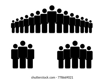 Silhouette illustration of a group of people