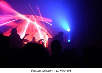 Silhouette image of heavy metal concert