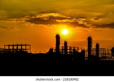 Silhouette of industrial ethanol