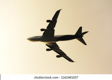 Silhouette of Jet plane