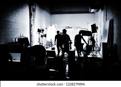 silhouette media production studio cinema or advertising or broadcast in media industry