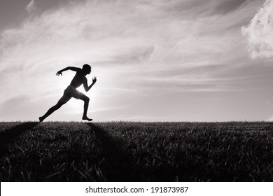 Runner Black White Images, Stock Photos