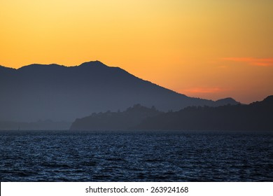 Silhouette of Mount Tamalpais, Marin County, California