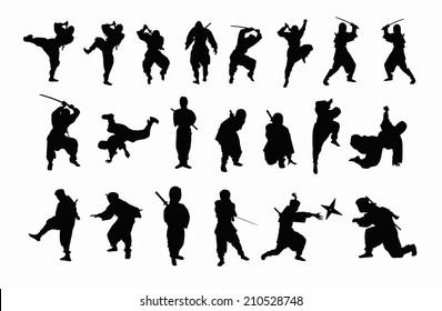 The Silhouette Of A Ninja
