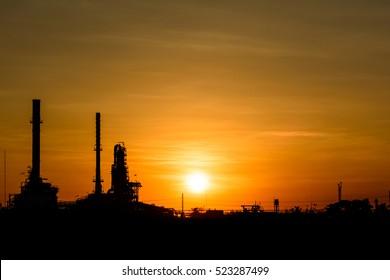 Silhouette Oil refinery.