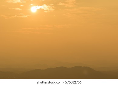silhouette  on Phu Bo-Bit viewpoint  in wild nature Loei province,Thailand
