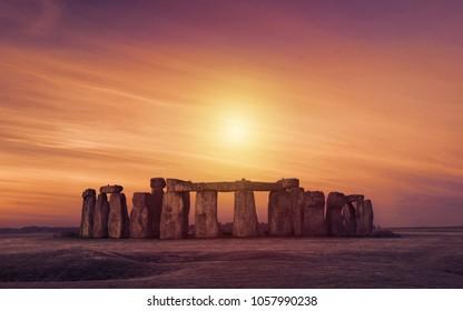 Silhouette over Stonehenge