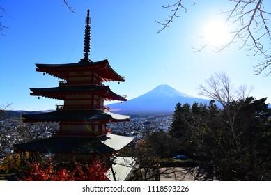 Silhouette of Pagoda