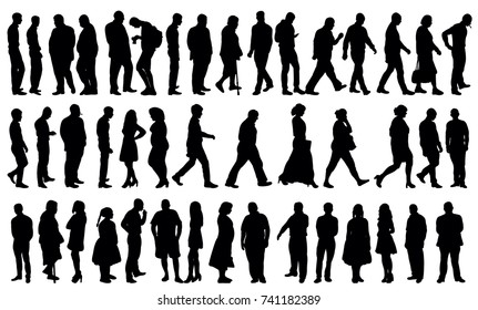 silhouette people collection, set