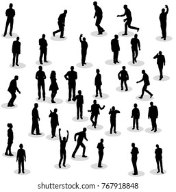 silhouette of people  isolated