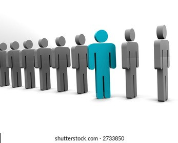 Silhouette of the person. 3d