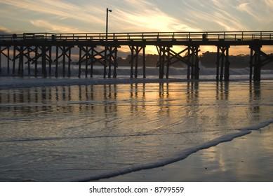 Silhouette of Pier on the California Coast