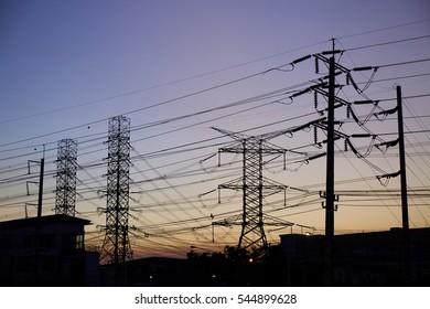 silhouette power line
