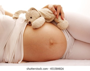 silhouette of  Pregnant woman on a white background