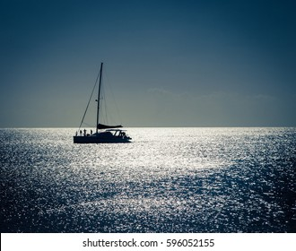 silhouette of a sailboat