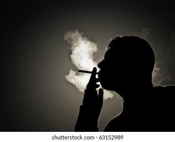 Silhouette smoker