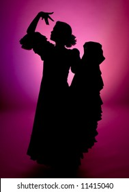 Silhouette of a Spanish flamenco dancer (not photoshop rendered)
