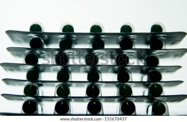 silhouette stack aluminum blister pack