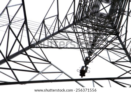 Silhouette Steel Structure Transmission Line Tower Stock Photo Edit
