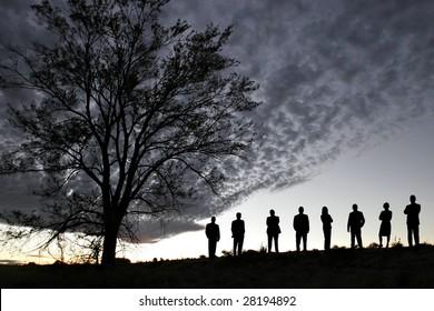 Silhouette of Success
